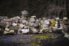 Stones arranged in zen towers Stock Images