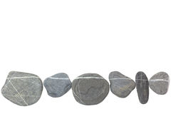 Stones as a line on white Royalty Free Stock Image