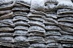 Stones in assorted shapes and sizes in bag stacked Royalty Free Stock Images