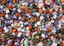 Stones background. Background from multicolored polished stones Stock Photography