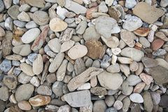 Stones background. Beach stones background Stock Images