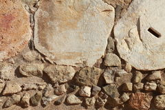 Stones background. Background composed of stones of different sizes, colors and textures Royalty Free Stock Images