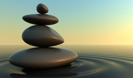 Stones Balance. S,3d render pictures Stock Photo