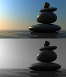 Stones Balance. S,3d render pictures Stock Image