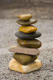 Stones in balance. Different sizes and colours Stock Image
