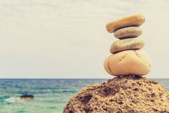 Stones balance inspiration wellness concept Stock Photography