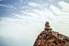 Stones balance inspiration wellness concept Royalty Free Stock Image