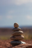 Stones balance - pebbles stack Royalty Free Stock Photo