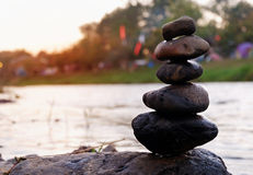 Stones balance in zen concepts Royalty Free Stock Photography