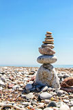 Stones balanced on each other Royalty Free Stock Photos