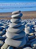 Stones balanced on the Pebble Ridge