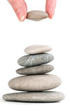 Stones in balanced pile Stock Photography