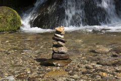 Stones balanced on top of each other Stock Photo