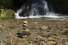 Stones balanced on top of each other Royalty Free Stock Photos
