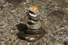 Stones balanced on top of each other Royalty Free Stock Images