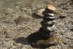 Stones balanced on top of each other Royalty Free Stock Photo