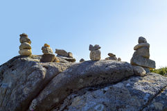Stones balancing on top of Foia Royalty Free Stock Images