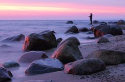 Stones in the Baltic Sea, Gdynia Orlowo Royalty Free Stock Photography