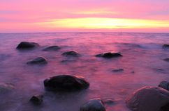 Stones in the Baltic Sea, Gdynia Orlowo Royalty Free Stock Images