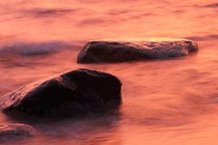 Stones in the Baltic Sea, Gdynia Orlowo Royalty Free Stock Image