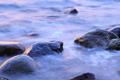 Stones in the Baltic Sea, Gdynia Orlowo Royalty Free Stock Photos