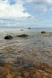 Stones in Baltic sea. Stock Photo