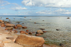 Stones in Baltic sea. Stock Photos