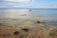 Stones in Baltic sea. Stock Image