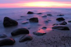 Stones in the Baltic Sea Stock Images