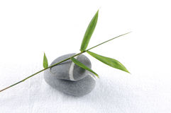 Stones and bamboo Royalty Free Stock Image