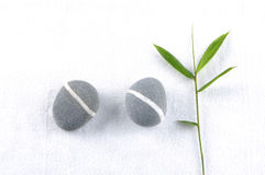 Stones and bamboo Stock Photography