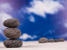 Stones and bamboo, zen, magical ambient atmosphere theme Royalty Free Stock Photos