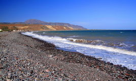 Stones beach. Beach near the town of santa rosalia in baja california sur, mexico Royalty Free Stock Image