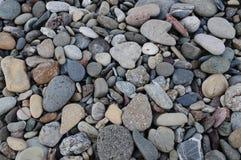 Stones on beach. Spread stones around on beach Stock Photos