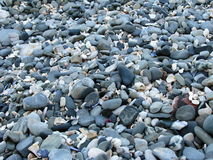 Stones on Beach. Sea stones on beach, Blouberg, Cape Town Royalty Free Stock Photo