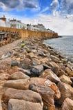 Stones on the beach of ancient Medina, Hammamet, Tunisia, Medite Stock Images