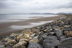 Stones on the beach of Atlantic Ocean. Stock Image