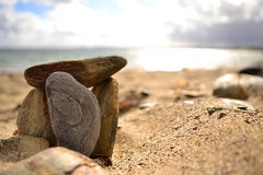Stones on beach Stock Image
