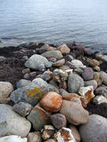 Stones on a beach. Big stones on a sea coast Royalty Free Stock Images