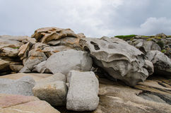 Stones on the beach of Corsica. France Stock Photo