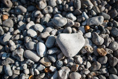 Stones on the beach. Different gray stones on the beach Stock Image