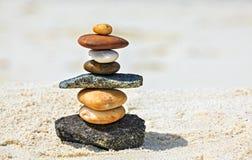 Stones are on  beach Stock Photo