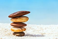 Stones are on  beach Royalty Free Stock Photos