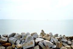 Stones on beach royalty free stock photos
