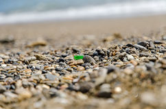 Stones on the beach. With the sea in the background royalty free stock images