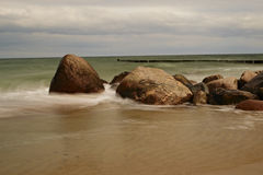 Stones at the Beach. Some Stones at the Beach of the lovely little Village Kühlungsborn in Germany stock photography