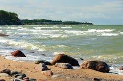 Stones on the beach. stock image