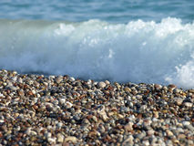 Stones beach wave Stock Photography