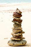 Stones on the beach - wellbeing Stock Images