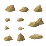 Stones beige small rocks set   illustration Stock Photo